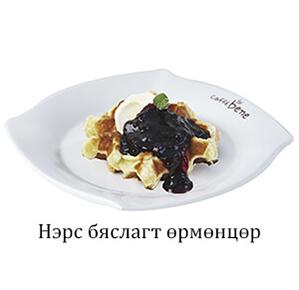 Blueberry Cream cheese waffle